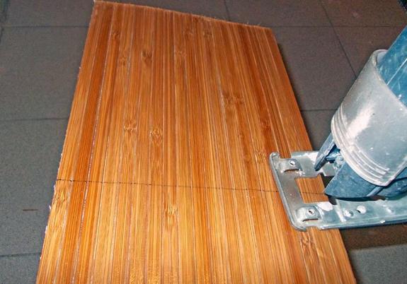 Как правильно нарезать бамбуковые обои