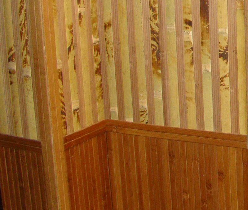 Как наклеить бамбуковые обои в углах
