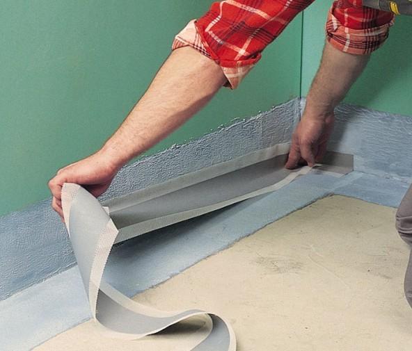 Гидроизоляция стыков пола со стенами