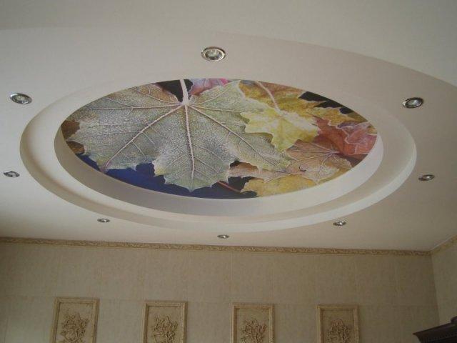 Рисунок листьев на выделенном уровне