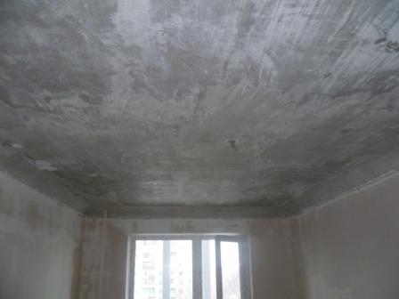 Так выглядит правильно очищенный потолок