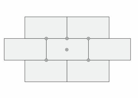 Схема крепления дюбелей