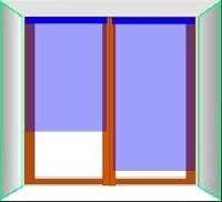 Крепление жалюзи к створкам окна