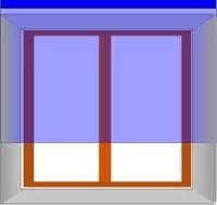Крепление жалюзи к стене над окном