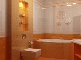 Освещение полочек в ванной